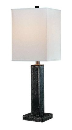 LITE SOURCE LS-20225BLK/LTR LEATRIX TABLE LAMP, BLACK LEATHER WITH WHITE FABRIC SHADE  - Click image twice for more info - See a larger selection of kids table lamps at http://tablelampgallery.com/product-category/kids-table-lamps/ - home, home decor, home ideas, desk lamp , gift ideas, lightning, lamp, kids lamp