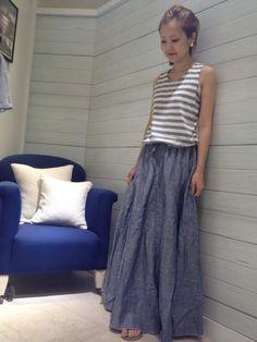 リネン マキシスカートが入荷しました♪