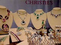 Elizabeth Taylor's estate jewellery (Source: BBC)