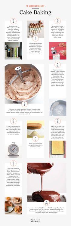 Martha Stewart's 10 Golden Rules of Cake Baking