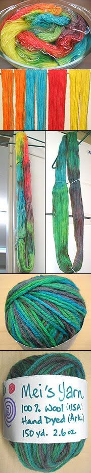 Kool Aid Yarn Dyeing
