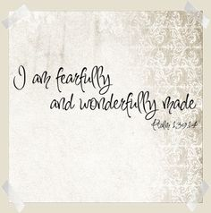 I Am Fearfully & Wonderfully | Wall Decals