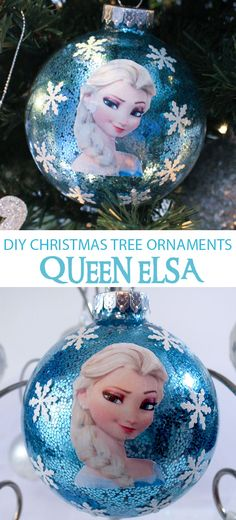 Sparkly enough for a Snow Queen, this DIY Queen Elsa Christmas Tree Ornament will be a hit with the Frozen fans in your family. We have all the directions for making this special Frozen Christmas Decoration. Follow us for more fun Frozen ideas.