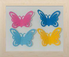 30 Recortes/apliques borboleta 5cm
