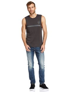Rising Sun Muscle Print Tee | Just Jeans