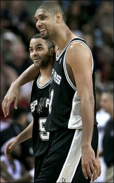 Tony Parker #9 and Tim Duncan #21 are the two to watch on the San Antonio Spurs.  Get ready for another great season.  Get your tickets today...first home game October 18th.