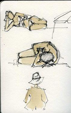 Urban Sketchers Portugal: Girl Watching
