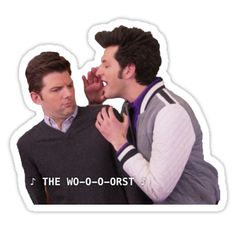 Another iconic Parks and Rec scene, now immortalized in any form you want it in, honestly. Enjoy! • Also buy this artwork on stickers, apparel, phone cases, and more.