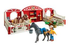 Amazon.com: Playmobil Country Pony Stable: Toys & Games