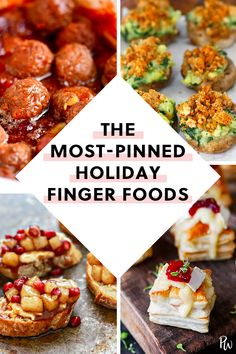 The 6 Most Popular Holiday Finger Foods, including Brie-Cranberry Puff Pastry Bites Appetizers For A Crowd, Finger Food Appetizers, Food For A Crowd, Appetizer Recipes, Vegetarian Appetizers, Popular Appetizers, Elegant Appetizers, Easy Party Appetizers, Easy Make Ahead Appetizers