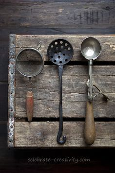 Rustic finds spoons