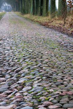 de Drentse keien, zulke weggetjes zijn nog te vinden in de provincie.