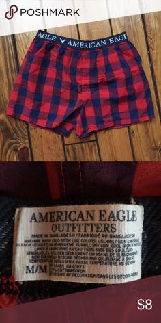 Men's NWOT AE Boxers Brand new. Never worn. No tags. From a smoke-free, pet-free home. Price is firm unless bundled. American Eagle Outfitters Underwear & Socks Boxers