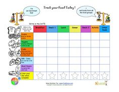 Printable+meal+tracking+sheets+for+kids+from+Nourish+Interactive.+Click+to+print+this+fun+nutrition+education+food+groups+meal+tracking+sheets.+Kids+food+pyramid+coloring.+Visit+us+for+free+online+nutrition+games