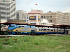 A Via train at the station in London, Ontario.