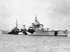 HMS Jamaica (44), a Crown Colony-class cruiser of the Royal Navy, was named after the island of Jamaica, which was a British possession when she was built in the late 1930s. The light cruiser spent almost her entire wartime career on Arctic convoy duties, except for a deployment south for the landings in North Africa in November 1942. She participated in the Battle of the Barents Sea in 1942 and the Battle of North Cape in 1943. Jamaica escorted several aircraft carriers in 1944 as they flew…