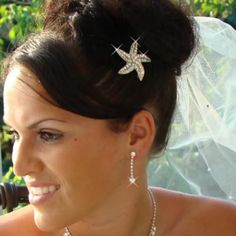 For a beach wedding I want a tiny starfish clip in my hair