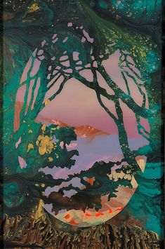 Poured out landscapes by Australian artist Kate Shaw - Lost At E Minor: For creative people