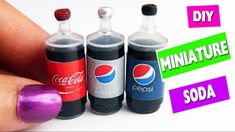 DIY | Miniature Realistic Cola - Soda - Pop Bottles- Easy crafts for dolls