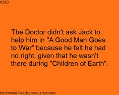 Jack wasn't there a that day because the filming clashed with Torchwood but it was there that he supposedly had his head chopped off Torchwood, First Doctor, Doctor Who, Jack Harkness, Captain Jack, Geronimo, How To Run Faster, Dr Who, Superwholock