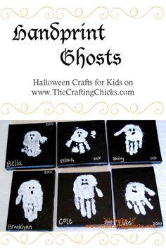 Ghostly Handprints - Halloween Kid Craft
