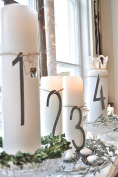 Numbers and candles, perfect for my kitchen