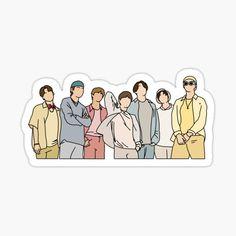 Preppy Stickers, Cute Laptop Stickers, Pop Stickers, Kawaii Stickers, Printable Stickers, Bts Tickets, Bts Tattoos, Korean Stickers, Bts Book