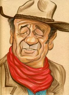 John Wayne by Zack Wallenfang https://www.facebook.com/CharacterDesignReferences