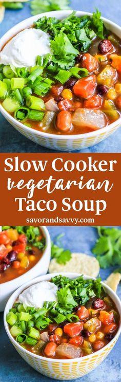 Slow Cooker Taco Soup Recipe CrockPot -
