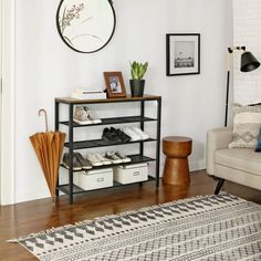 Shoe Rack Table, 5 Tier Shoe Rack, Metal Shoe Rack, Shoe Bench, Shoe Storage Organiser, Shoe Rack Organization, Vintage Industrial, Industrial Style, Entrance Table