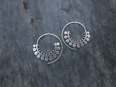 Sterling Silver Handmade Sunflower Spiral Hoops by SashaBellJewelry