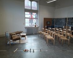 """""""New Companionships"""" - Posthuman Perspectives in Artistic Practice. Group show within Gothenburg Design Festival 2017. Initiated and curated by Thomas Laurien. Participants: Tina Lehnhardt, Kim Björnson, Karin Granlöf, Sara Eva Samuelsson, Amanda Selinder, Anton Vikström, David Chocron, and Luca Mariotti. Venue: HDK Academy of Design and Crafts. Photo: Thomas Laurien"""
