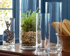 Vasos em vidro trans