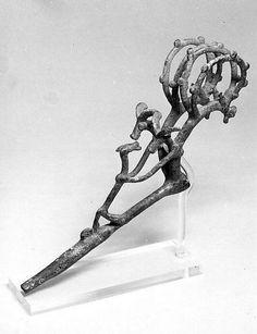 Pin  Period:Iron Age III Date:ca. 8th–7th century B.C. Geography:Iran, probably from Luristan Culture:Iran Medium:Bronze Dimensions:4.21 x 9.06 in. (10.69 x 23.01 cm)