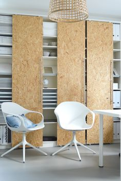 Ikea hack for office storage.