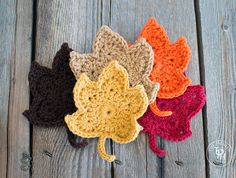 Fall Leaves Crochet Pattern (FREE)                                                                                                                                                      More