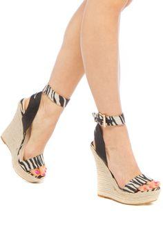 Tayden Animal Print Wedge Sandals