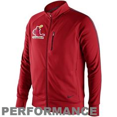 Nike St. Louis Cardinals Cooperstown Tempo Performance Track Jacket - Red - $79.95