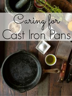 I LOVE cast iron pans, but you certainly need to care for them so they don't get rusty.