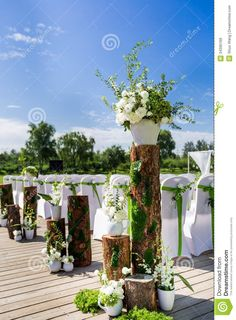 wedding scenes   Royalty Free Stock Images: Outdoor wedding Scene