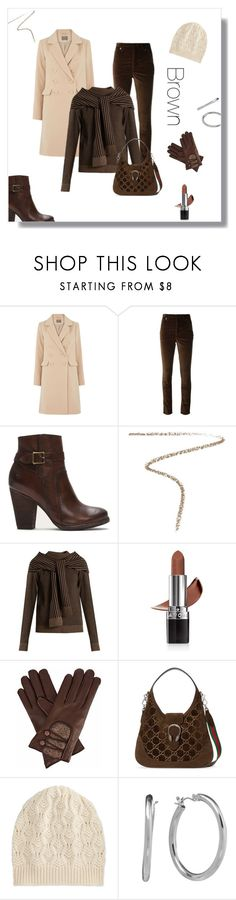 """""""The Brown Set"""" by tre0911 ❤ liked on Polyvore featuring Isabel Marant, Frye, Burberry, Isa Arfen, Avon, Gizelle Renee, Gucci, Brora and Chaps"""