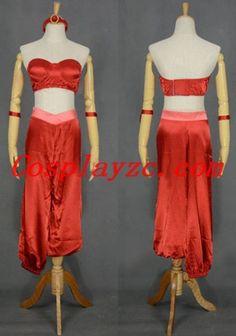 Custom Adult Princess Jasmine Red Cosplay Costume Halloween Costume|dp-80004-2|Aladdin Cosplay Costumes