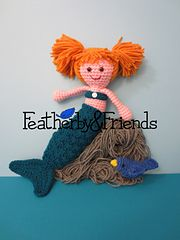 Macie - Little Sister Doll in Mermaid Costume - Crochet Pattern by Alicia Moore of Featherby & Friends