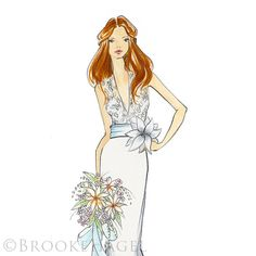 Emma-Bridal Fashion Illustration-by Brooke Hagel