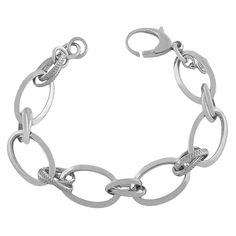 Gold Over Sterling Silver Textured High Polished Cable Link Adjustable Length Bracelet (7.5 to 8 inch) *** See this great product.