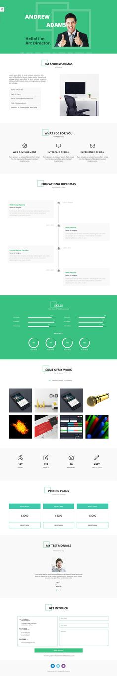 WebResu0027 is a FREE One Page HTML template in the style of an modern - free resume html template