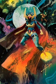 "wondrousyears: ""Big Barda and Mister Miracle by Mike Huddleston "" Dc Heroes, Comic Book Heroes, Comic Books Art, Comic Art, Book Art, Dc Comics Art, Marvel Dc Comics, Comic Character, Character Design"