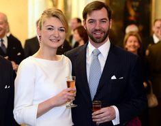 Heredity Grand Duchess Stéphanie with husband Hereditary Grand Duke Guillaume of Luxembourg.
