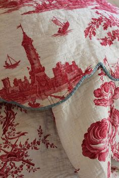 I think I competed for this very piece...and lost! Thankfully I found a similar (and amazing) antique toile. Gorgeous! [For those following, this is from a terrific design blog.]