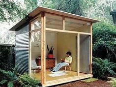 "Shed DIY - Edgar Blazons off-the-shelf ""prefab"" project. This would work. Now You Can Build ANY Shed In A Weekend Even If You've Zero Woodworking Experience! Backyard Studio, Backyard Retreat, Modern Backyard, Modern Gazebo, Backyard Cabin, Modern Shed, Modern Kids, Modern Room, Modern Garage"